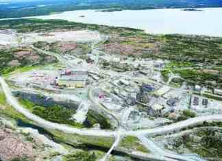 An aerial view of Giant Mine in 2015. Dr. Laurie Chan wants to hear residents' feedback on a health study that will be used to monitor people's exposure to contaminants like arsenic during the remediation of Giant Mine. - NNSL file photo