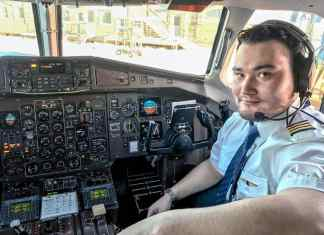 First officer Jeremy Maley of Rankin Inlet became the first Inuk pilot in history to fly for Calm Air when he was hired by the airline recently. Photo taken Dec. 7, 2018, in Arviat. Photo courtesy Jeremy Maley
