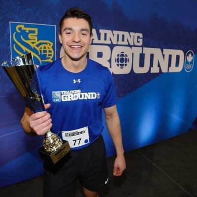 In April of last year, Gavin Broadhead, a former resident of Hay River, won the Alberta regional final in RBC Training Ground, a sports talent identification program. Since then, he has begun training in his new sport of speed skating. Photo courtesy of Canadian Olympic Committee / Photo by Kevin Light