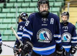 Logan Cunningham, seen during the Canada Winter Games this past Feburary, has been getting a lot of attention leading up to the Western Hockey League Bantam Draft on May 2. Brandon White/Canada Winter Games photo