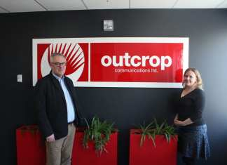Chris Ferris, COO of Outcrop Communications, left, and Jen Hayward, CEO, say their communication firm separates themselves from the crowd by having a widely diverse range of creative and strategic talent that allows them to take a holistic approach to providing for their clients communication needs. Brett McGarry/ NNSL photo