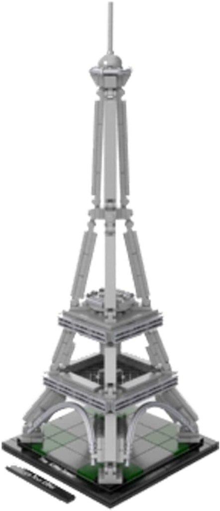 LEGO(レゴ)アーキテクチャーシリーズ「エッフェル塔」の俯瞰アングルの参考画像