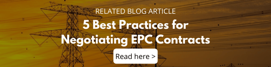 5 Best Practices for Negotiating EPC Contracts