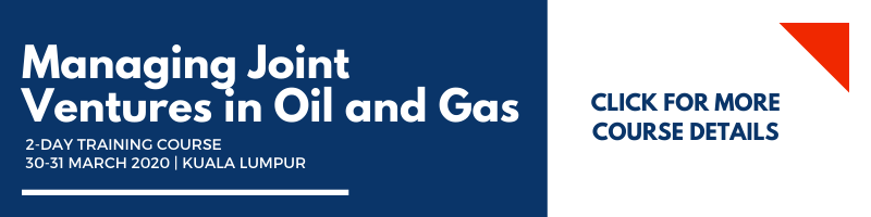Managing Joint Ventures in Oil and Gas March 2020