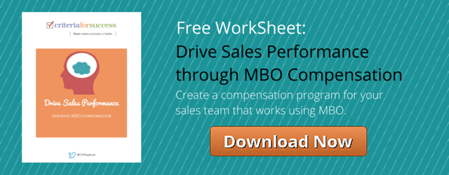Drive Sales Performance through MBO Compensation