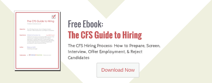 free download: the CFS guide to hiring