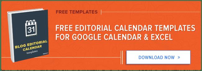 get free blog editorial calendar templates