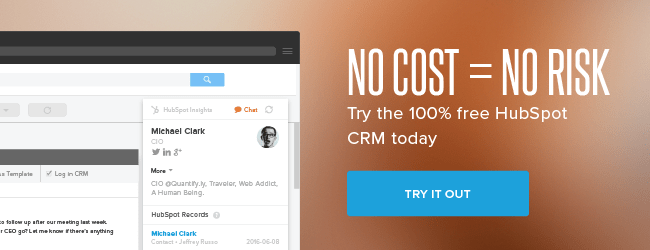 HubSpot CRM no risk