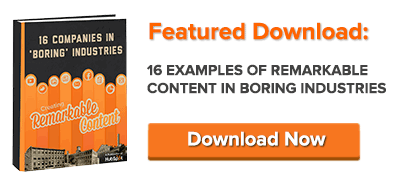 examples of remarkable content in boring industries