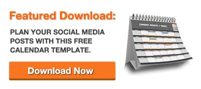 Free Template Social Media Calendar