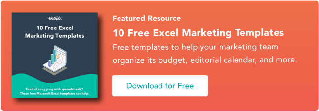 free excel templates for marketing