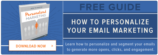 free guide to personalizing email marketing