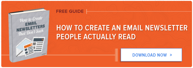 free guide to creating email newsletters