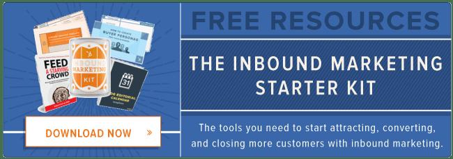 free inbound marketing starter kit