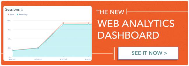 HubSpot's New Web Analytics Dashboard