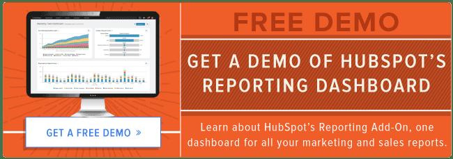 Regardez la démo du tableau de bord de rapports de HubSpot