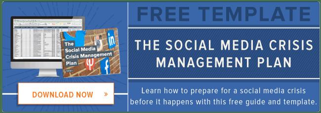 free template: social media crisis plan