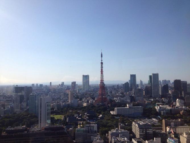 世界貿易センタービルの景色 東京タワー