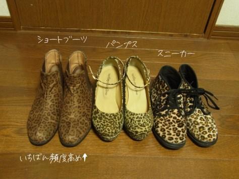 ヒョウ柄 靴のコーディネート