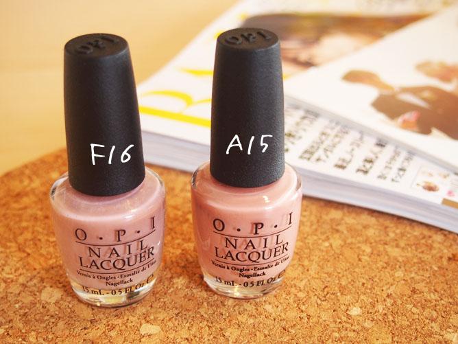 OPI ネイル F16&A15