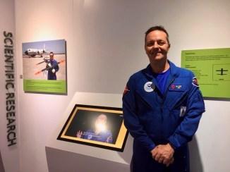 "Joe Cione at ""Drones"" Exhibit at Intrepid Air, Sea, and Space Museum."