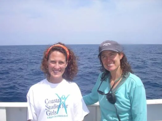 Paula Whitfield (right), Chief Scientist of the study, and I enjoy the sunshine.