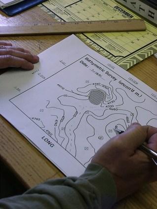 Bathymetric map