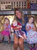Picnic with my nieces and nephew on a layover at DFW