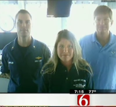 NOAA Teacher at Sea Jennifer Goldner is interviewed by NewsOn6.