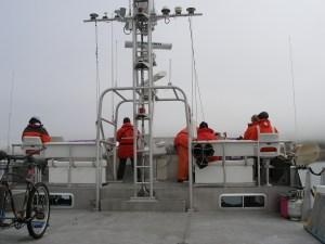 observers on the flying bridge