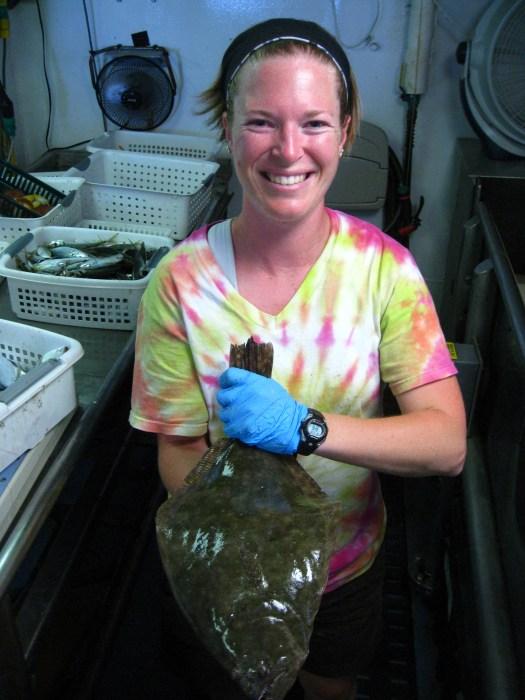 large flounder