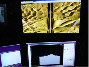 side scan sonar/sand waves