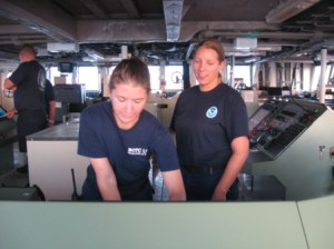 NOAA Corps Officers on the Bridge