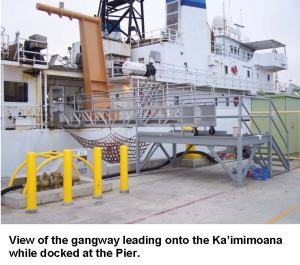 View of gangway