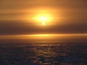 Sun Breaking through the sky