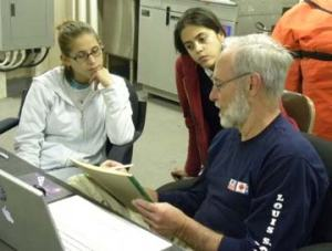 Paul Henkart teaching Nikki Kuenzel and Christina Lacerda.
