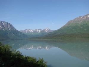 Alaska has many jagged volcanic mountains.