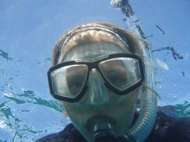 Clare Wagstaff, Teacher At Sea, snorkeling