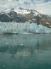 Margerie Glacier with calving splash