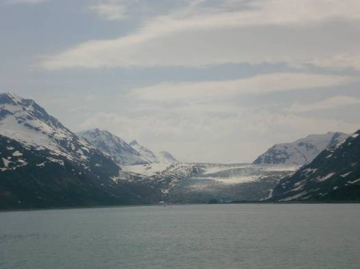 Grand Pacific Glacier- The mountains are Canadian.