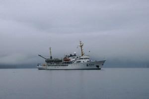 The NOAA Ship Rainier in the fog