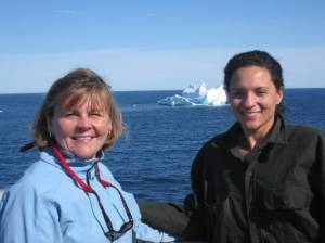 Here I am in front of the iceberg.