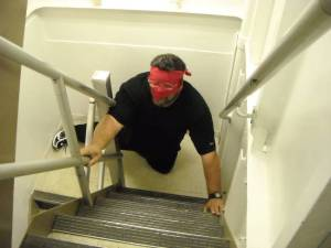 Going up the ladder blindfolded