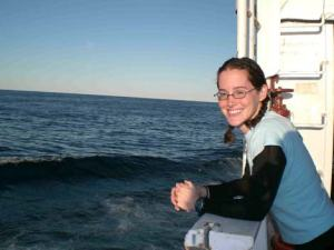 Teacher at Sea Jill Carpenter on board the DELAWARE II.