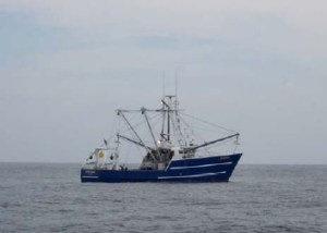 A small fishing ship as seen from the ALBATROSS.