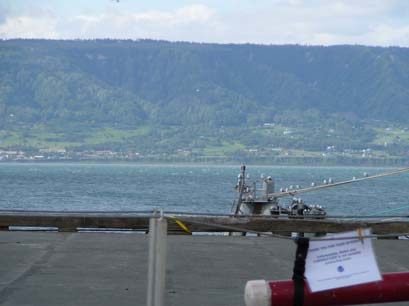 View off the end of the Deep Water Dock looking towards the Homer Airport
