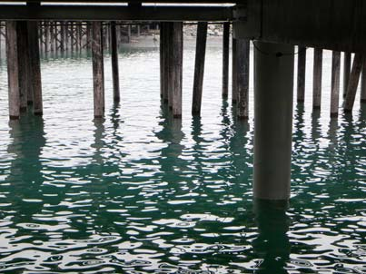 A view from under the pier