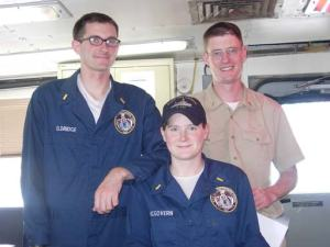 NOAA Commissioned Officers: ENS Nate Eldridge, ENS Meghan McGovern, and ENS Sam Greenaway.