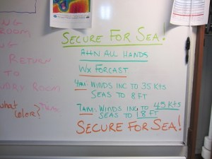 secure for sea!