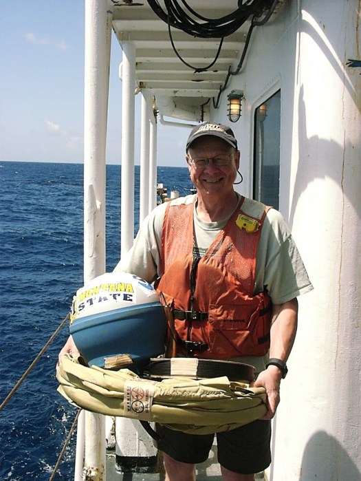 With the drifter buoy